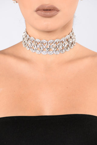 Diamonds Are Forever Choker - Silver