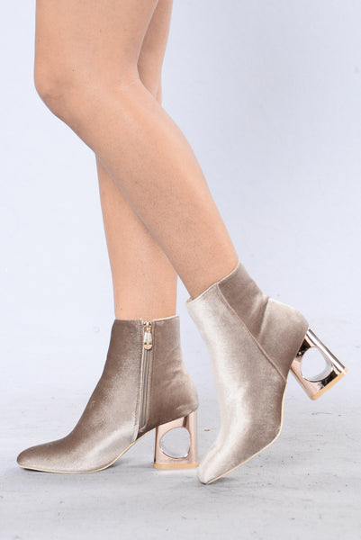 Velvet Heart Boot - Taupe