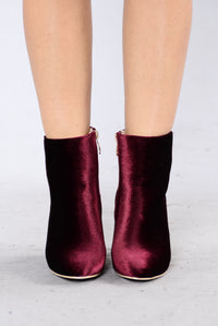 Velvet Heart Boot - Wine