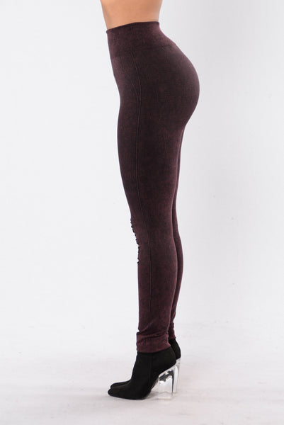 Take Your Mind Off Leggings - Wine