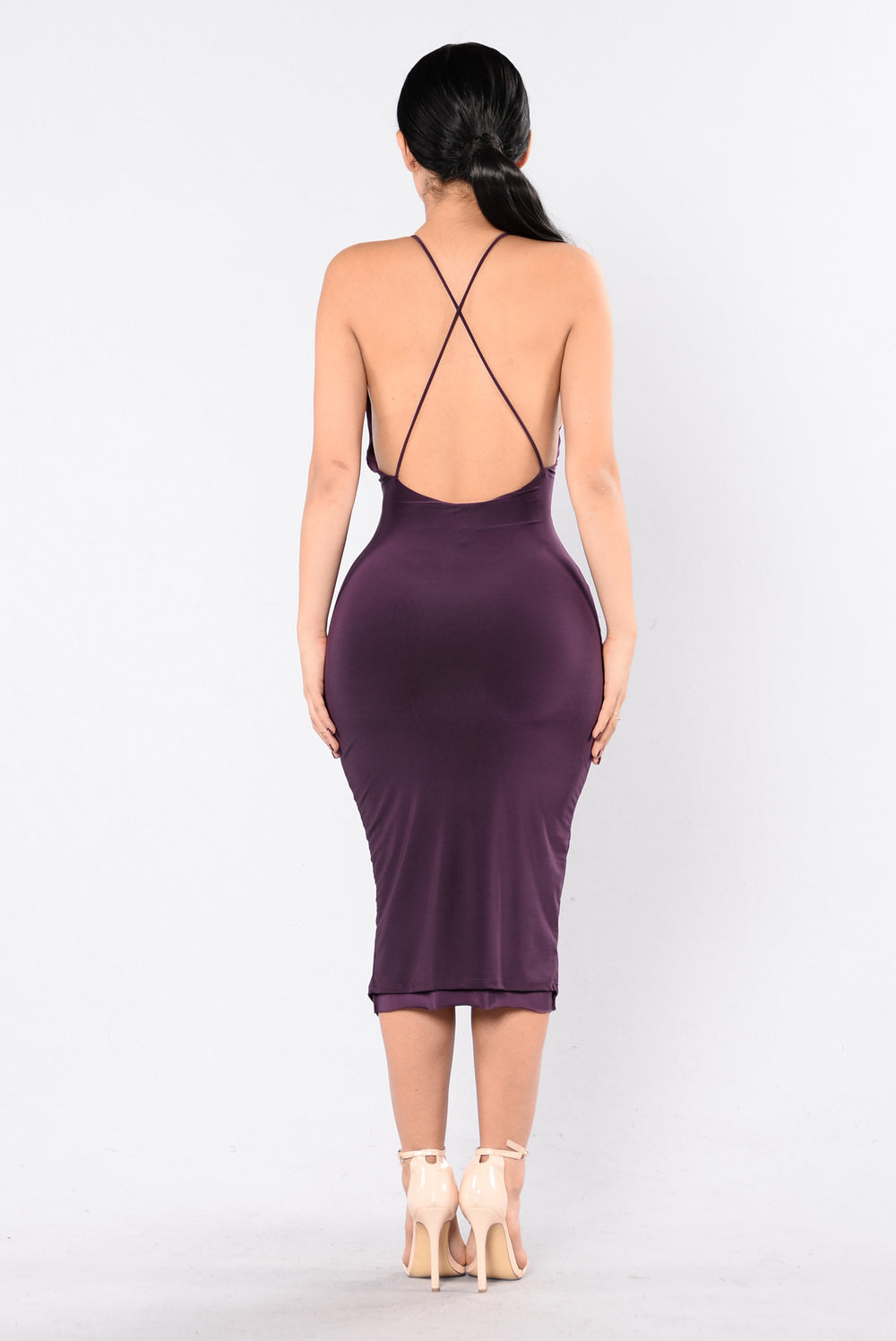 Boldly Bare Dress - Purple