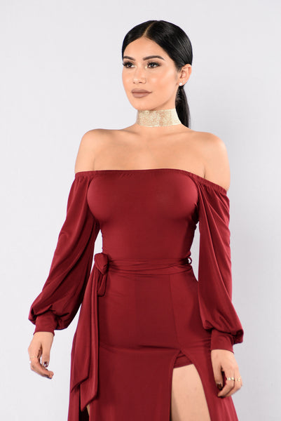 Cancun Dress - Burgundy