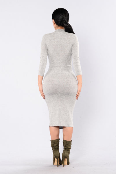 Romantic Offspring Dress - Heather Grey