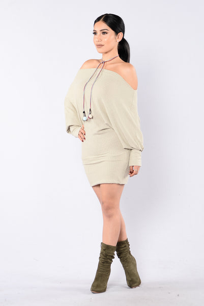 Never Too Much Dress - Taupe