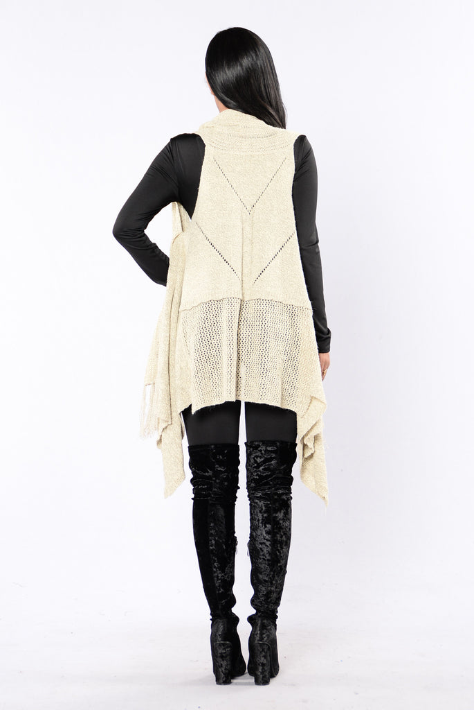 Love Will Conquer All Vest - Taupe