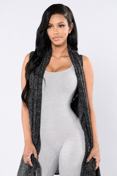 Love Will Conquer All Vest - Charcoal