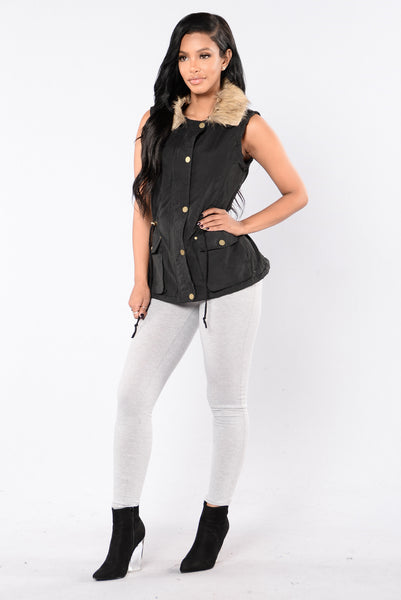 Keep Warm Vest - Black