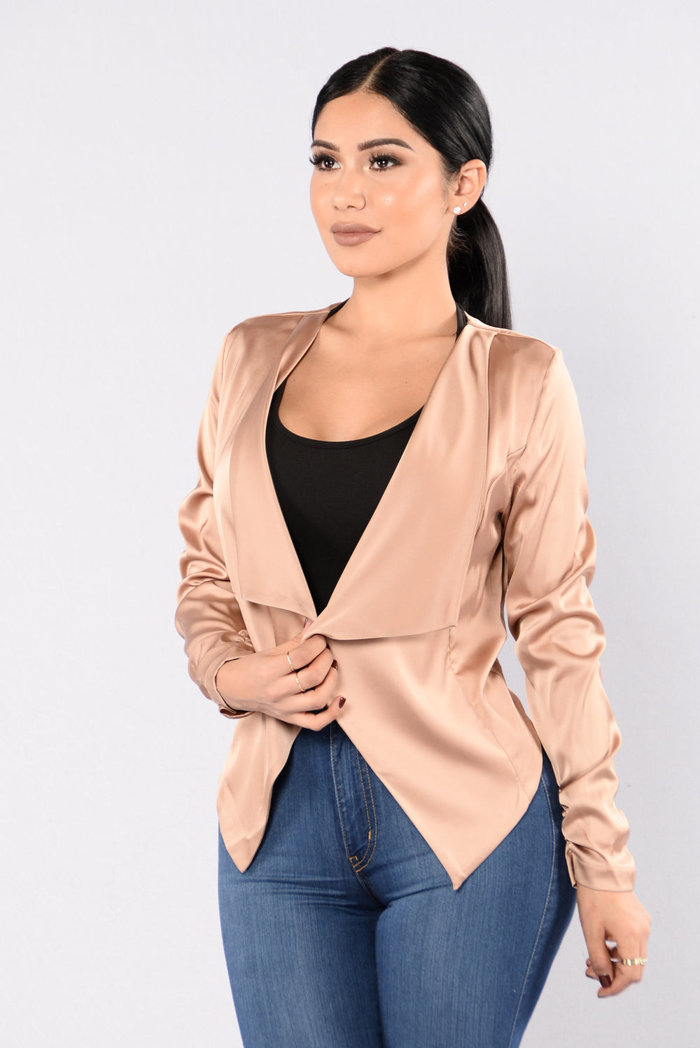Let's Talk Business Jacket - Gold