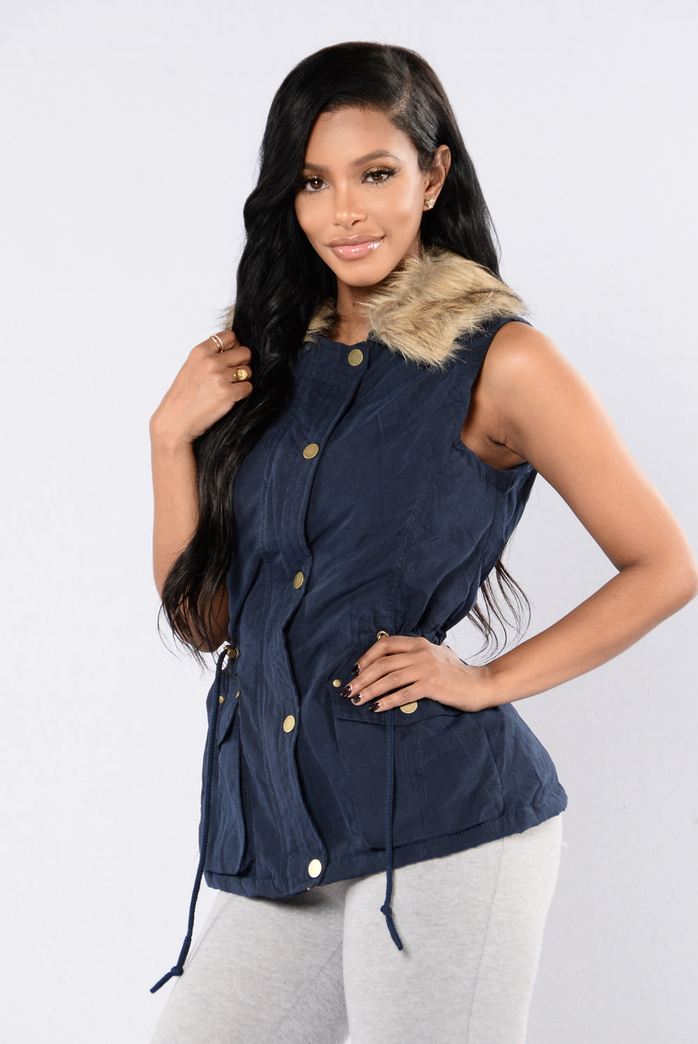 Keep Warm Vest - Navy