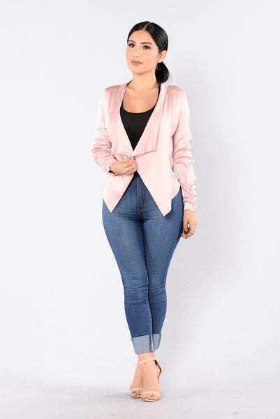 Let's Talk Business Jacket - Mauve