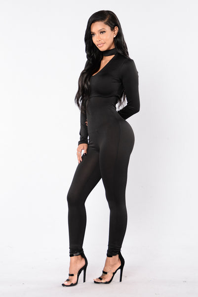 Smooth Like Honey Jumpsuit - Black