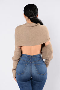 Cross Up Sweater - Mocha