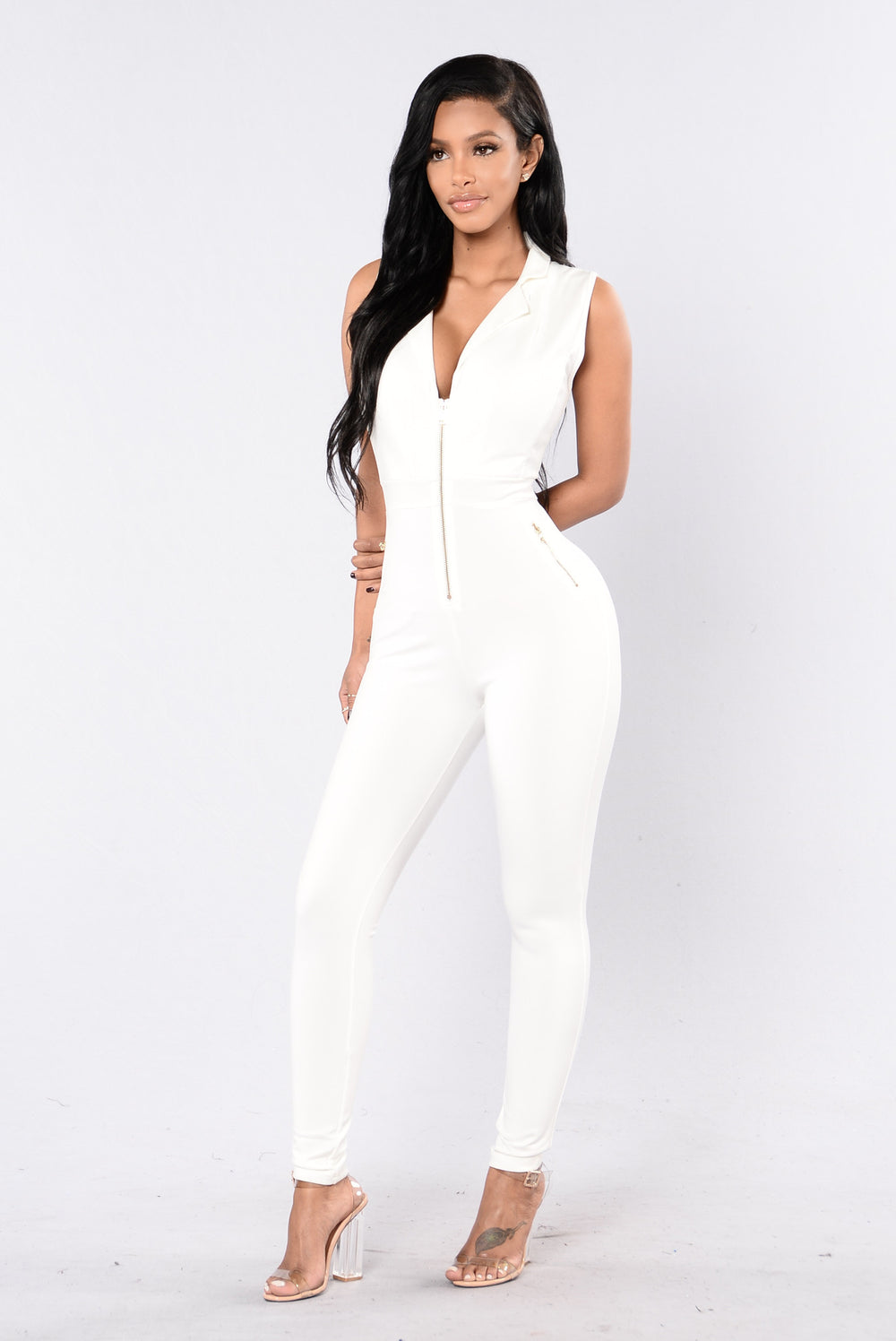 Talking Business Jumpsuit - White