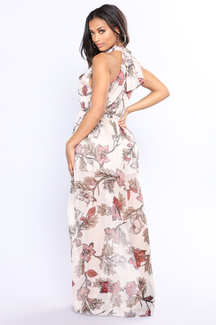 Park Avenue Princess Maxi Dress - Blush