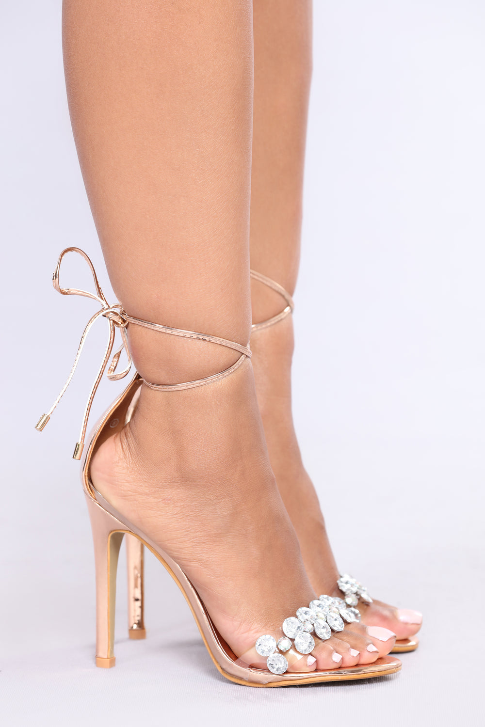Crystal Clear Heel - Rose Gold