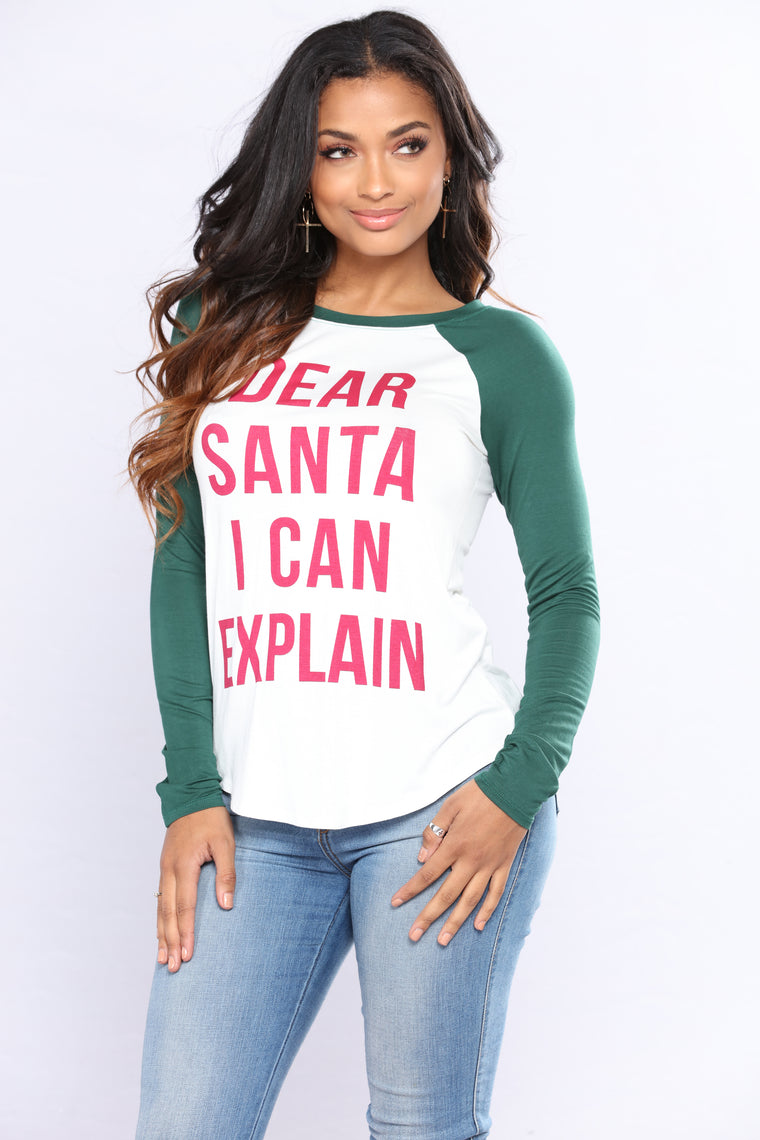 I Can Explain Holiday Sweater - Hunter Green
