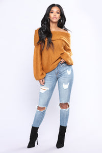 Weight Off Your Shoulders Sweater - Amber