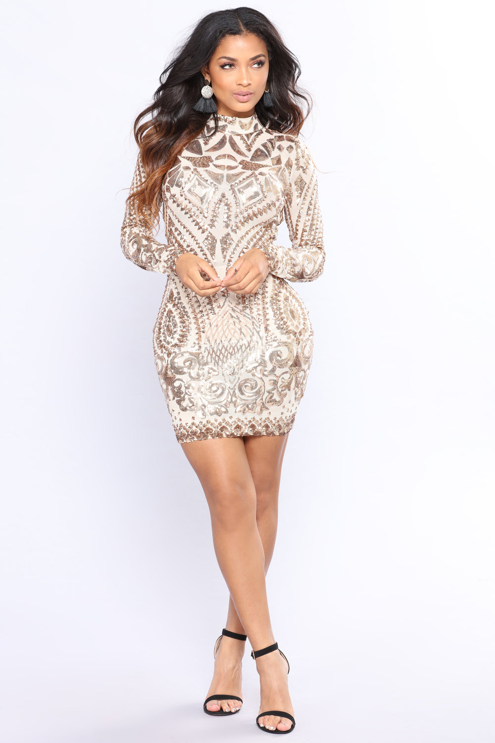 Sequin Of Events Dress - Rose Gold