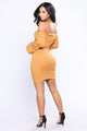 Certain Elements Dress - Mustard