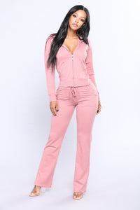 Easy Breezy Lounge Set - Mauve