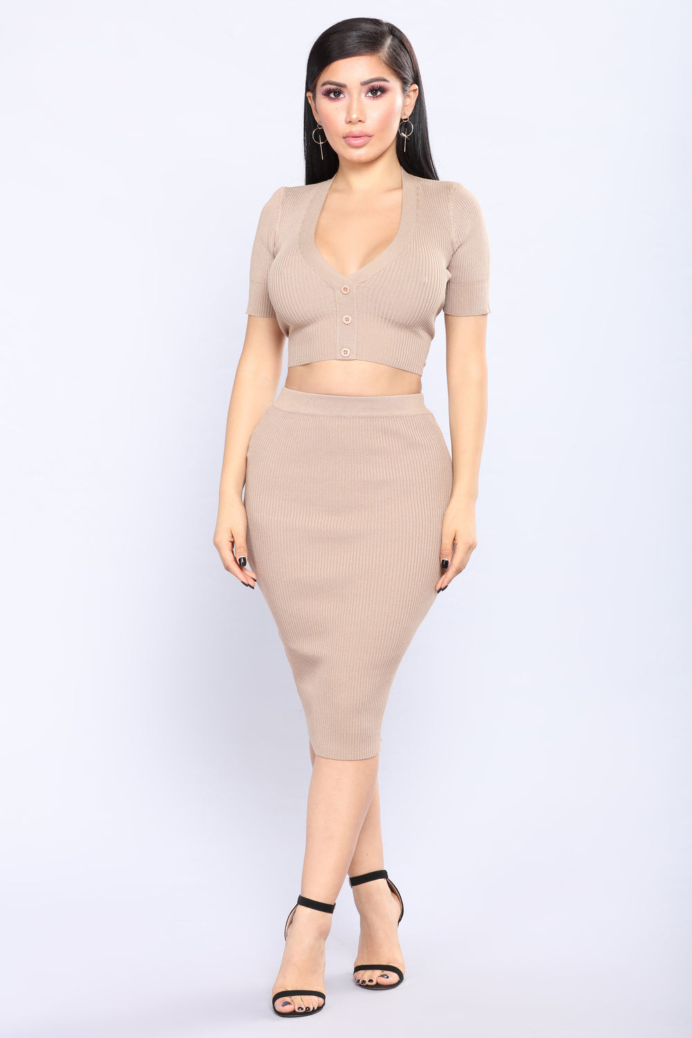 Bad Seed Skirt Set - Mocha