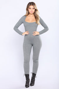 Never The Same Jumpsuit - Grey