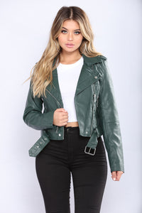 Harlie Moto Jacket - Hunter Angle 2