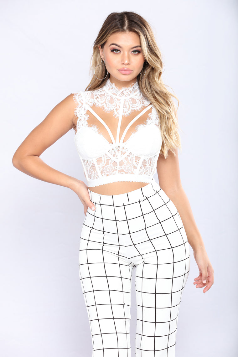 Laced In You Top - White