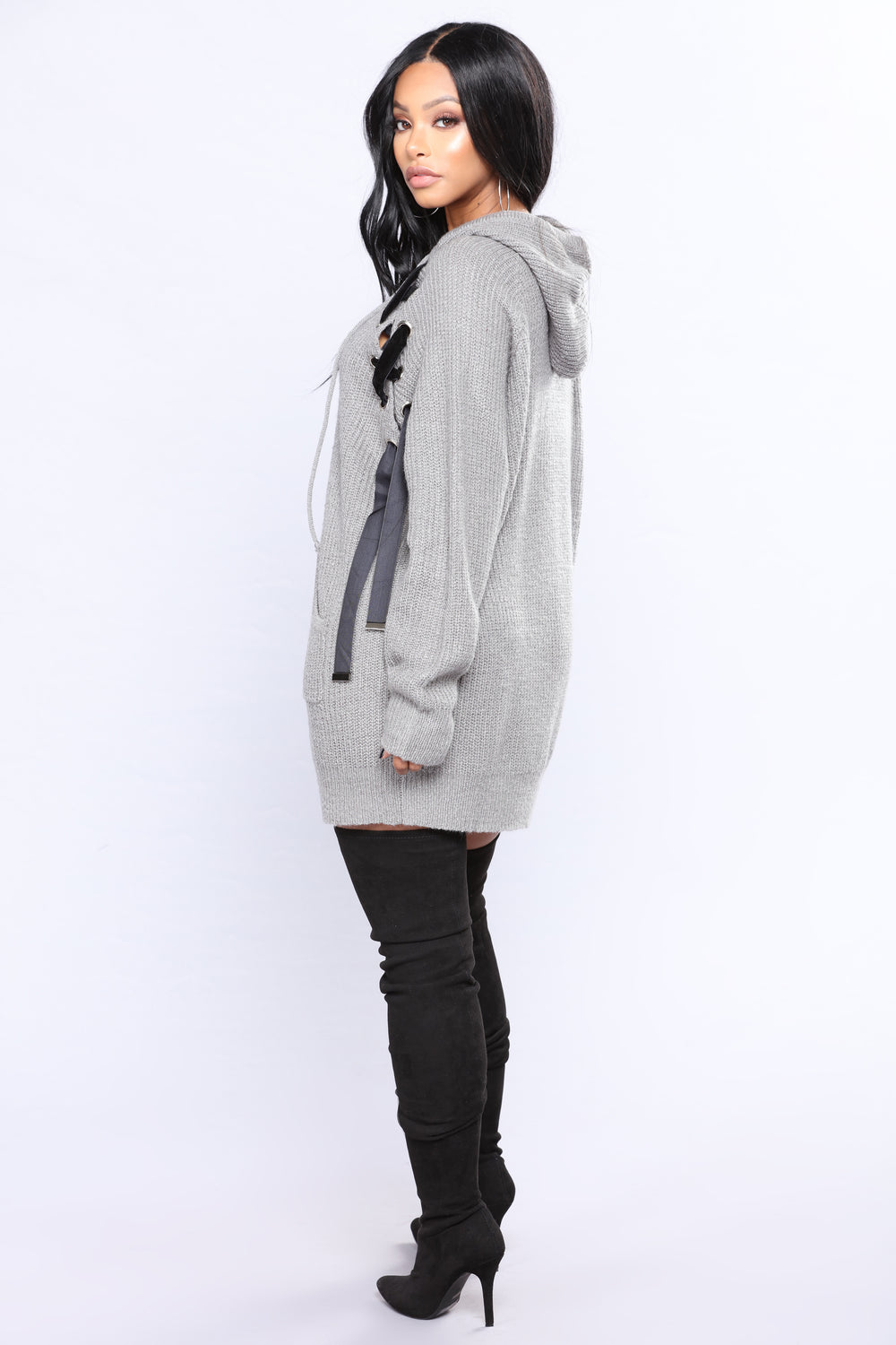 Hoodie For You Sweater - Heather Grey