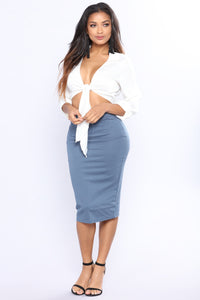 Pencil You In Skirt - Teal