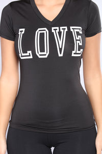 Crazy In Love Active Top - Black