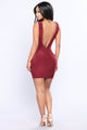 Metropolitan Night Dress - Burgundy
