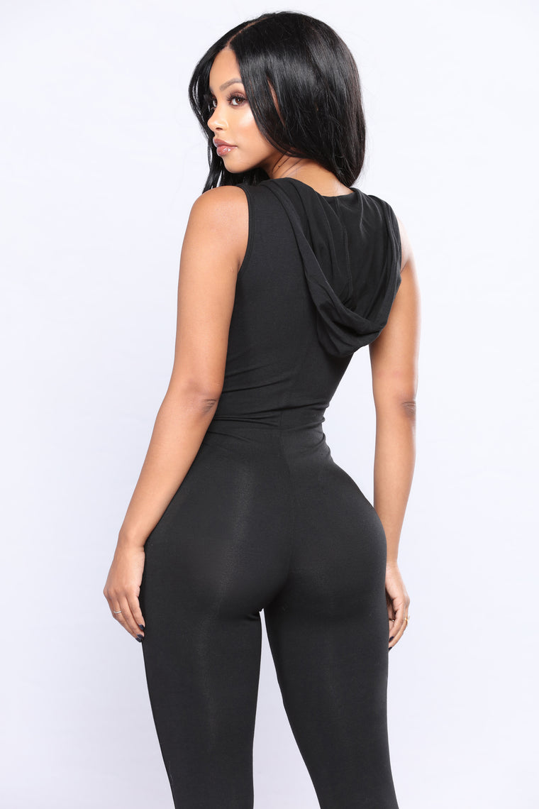 From The Hood Jumpsuit - Black