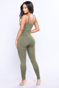 This Season Jumpsuit - Olive