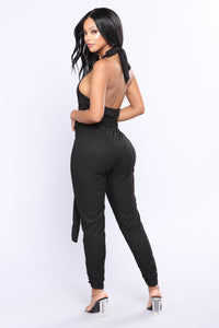 Jazlyn Crop Jumpsuit - Black