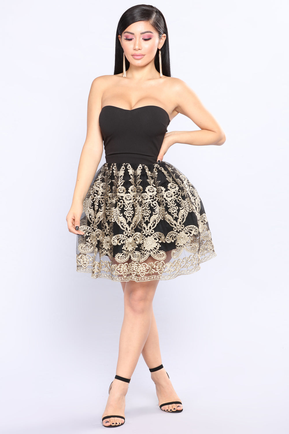 Such A Flake Mini Dress - Black