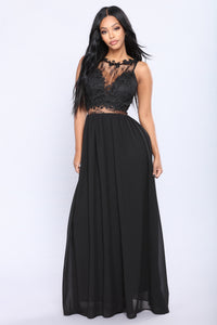 Lace Like Me Dress - Black