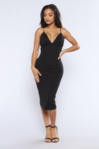 Bree Midi Dress - Black