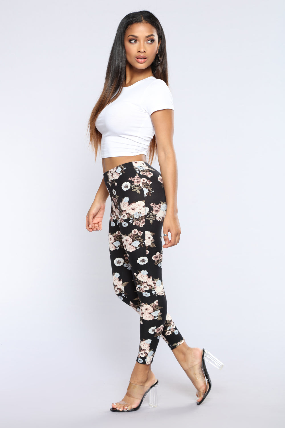 Rose To The Occasion Leggings - Floral