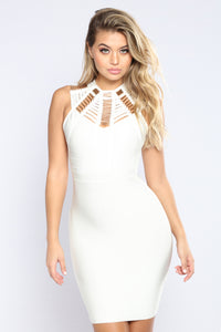 Krista Bandage Dress - White