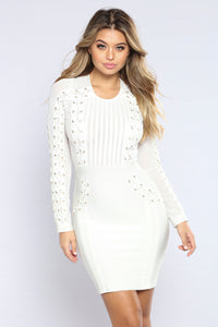 Yvonne Bandage Dress - White