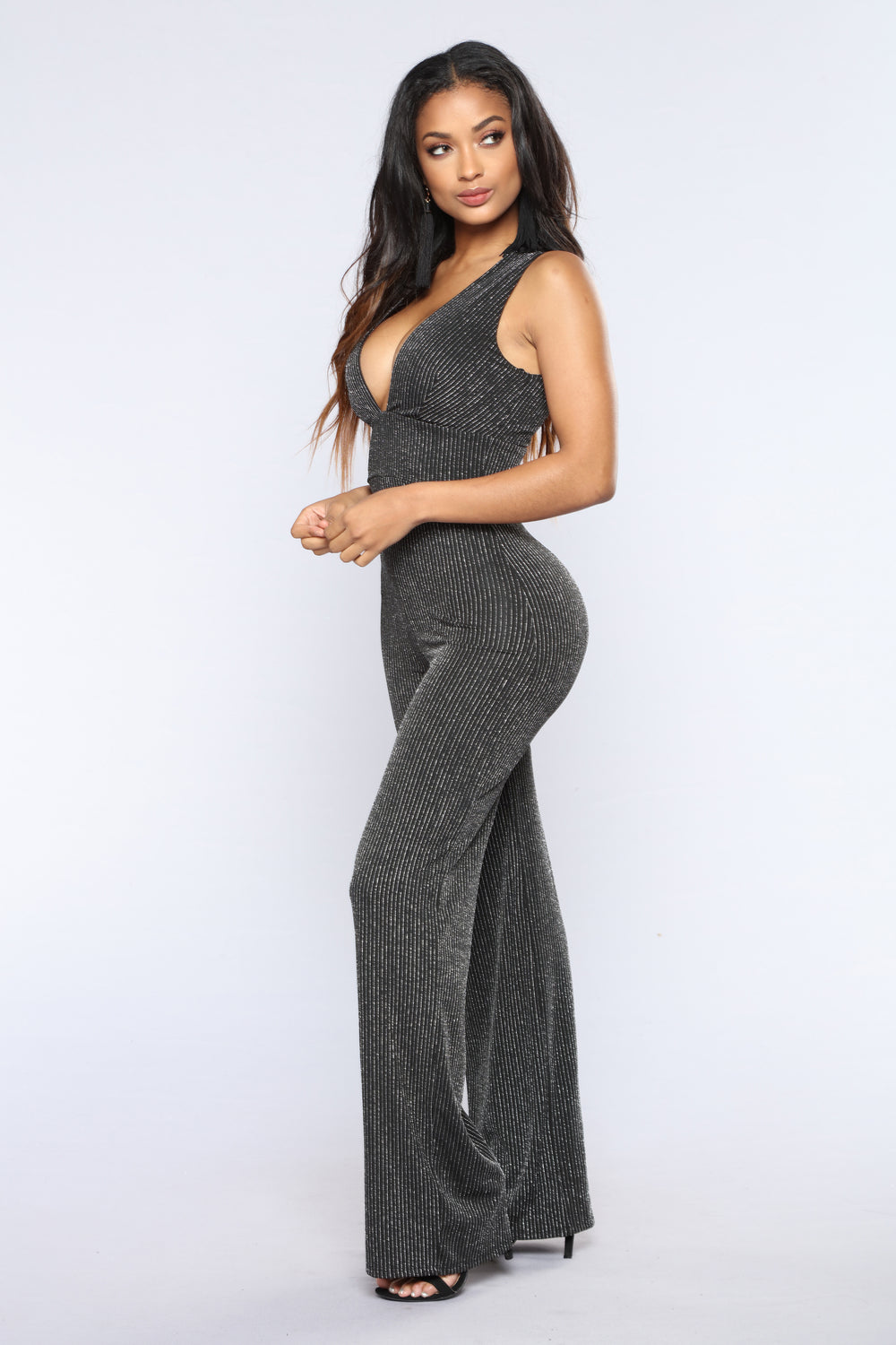 In His Vision Jumpsuit - Black/Silver