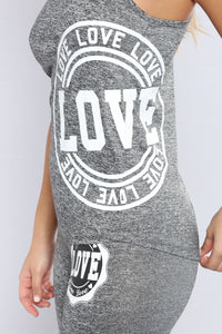 Love Struck Active Tank Top - Marled Charcoal