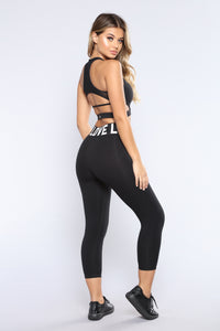 Cold Hard Love Active Leggings - Black