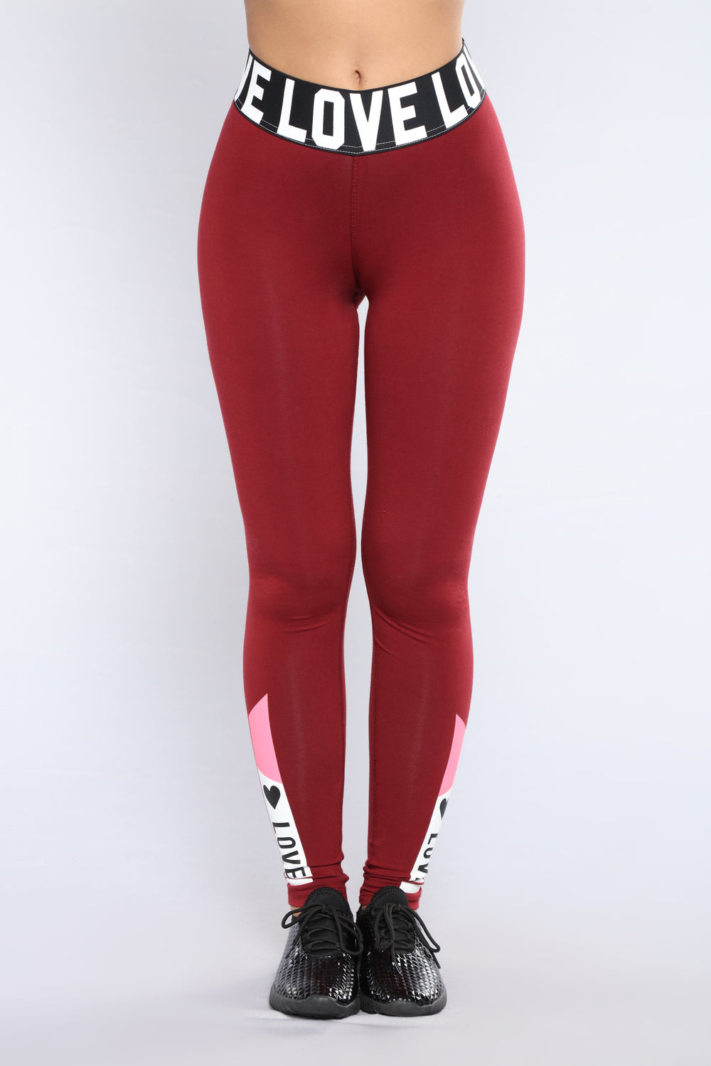 Love Bites Active Leggings - Burgundy