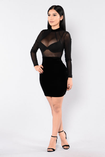Velvet Love Dress - Black