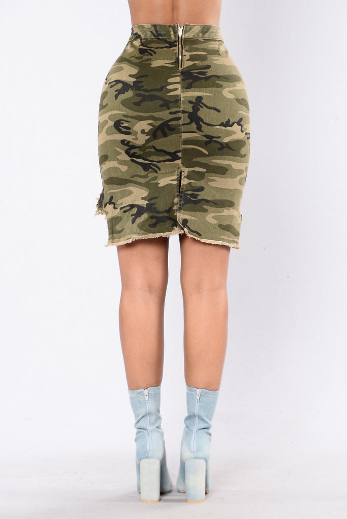 Can't Stop The Feeling Skirt - Camo