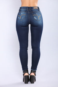 Look Back At Me Booty Lifting Jeans  - Dark Denim
