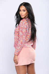 Lucia Key Hole Sweater - Multi