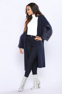 Water Under The Bridge Cardigan - Navy